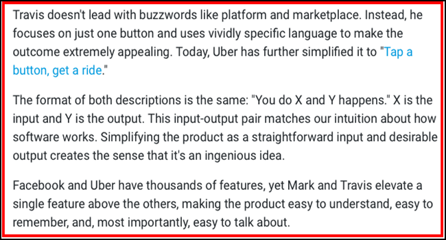 Dave Bailey from Inc. describes Uber's product description