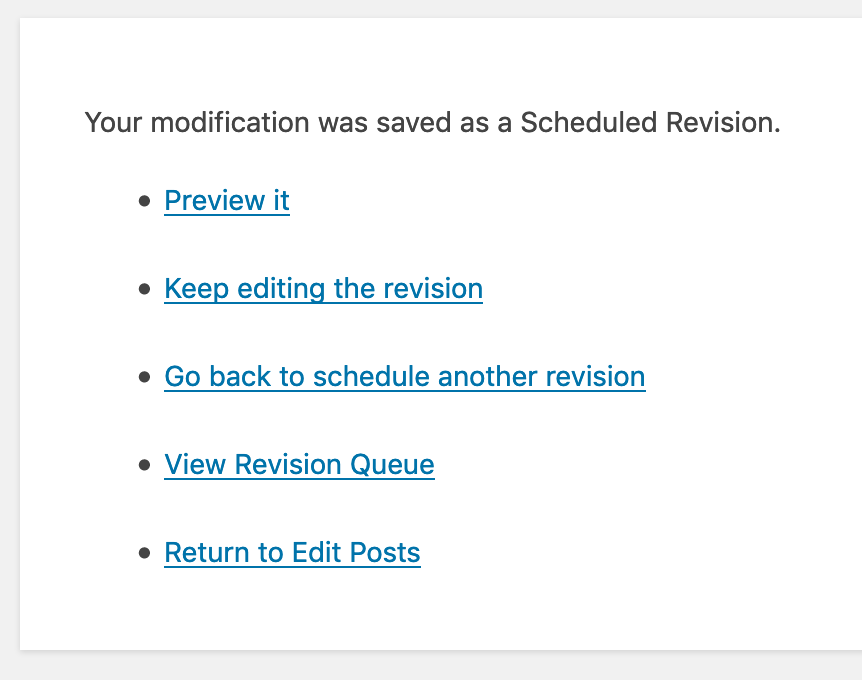 View Revision Queue