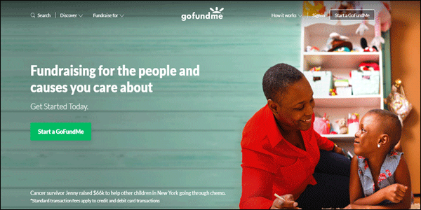GoFundMe Non-profit Website