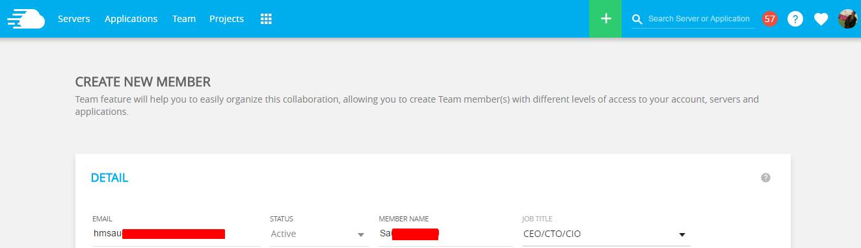 create new member