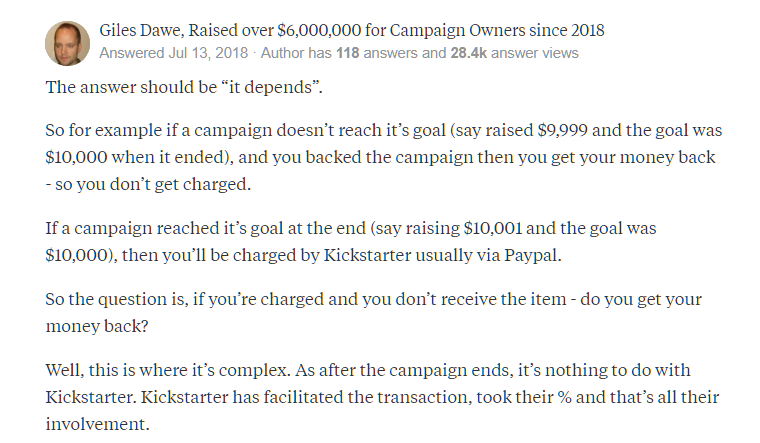 Crowdfunding statistics - Quora