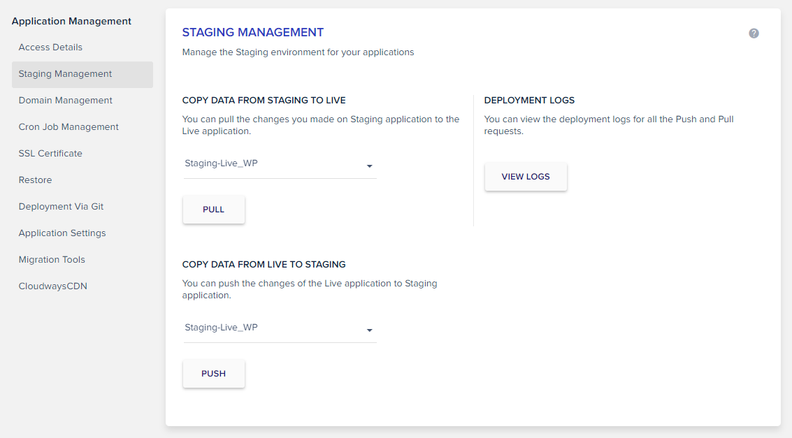 Staging Management