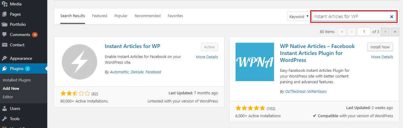 Installing WordPress Instant Article Plugin