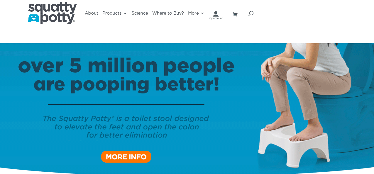 Squatty potty - Ecommerce landing page examples