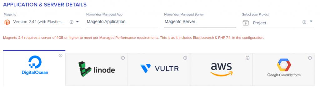 Select Cloud Provider