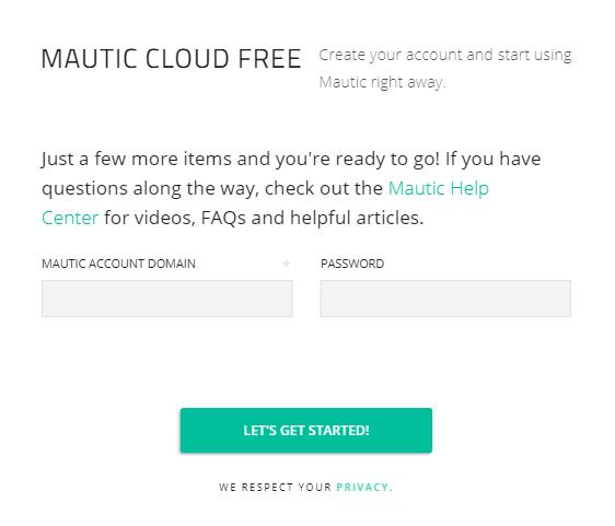 Mautic Cloud Free