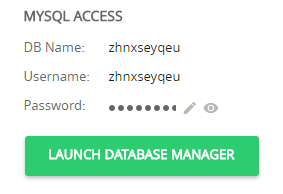launch database manager