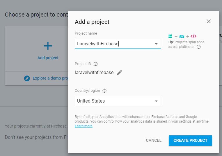 Connect Firebase Realtime Database in Laravel