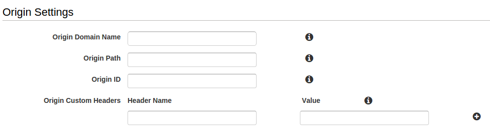 CDN origin settings