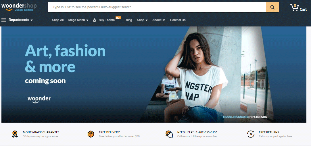WordPress theme for business woonder