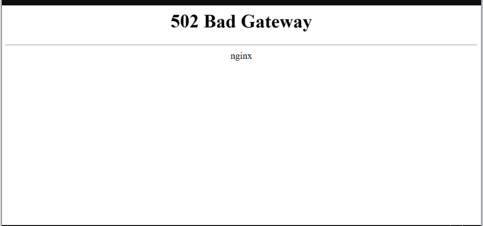 502 bad gateway window
