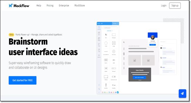 MockFlow design tool