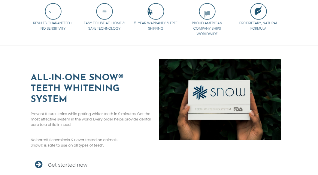 Try Snow - Ecommerce Landing Page