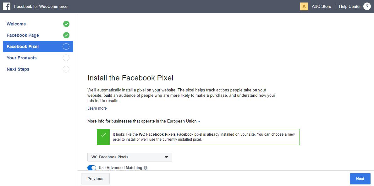 install a facebook pixels