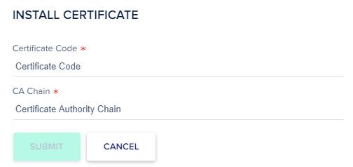 install certificate code