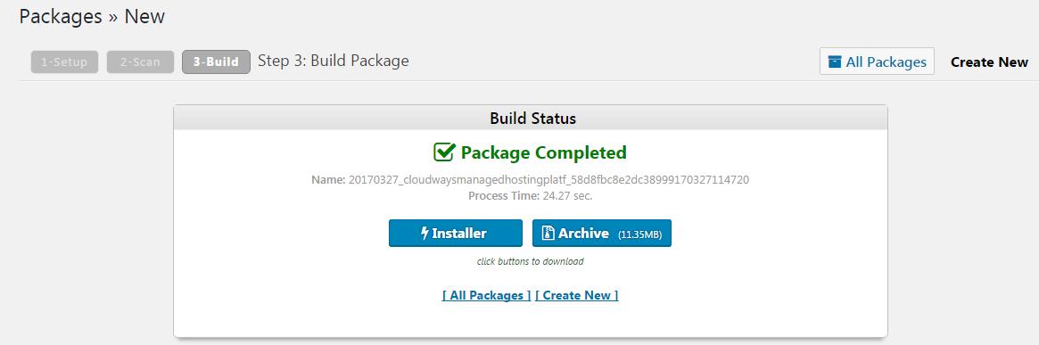installer & archive