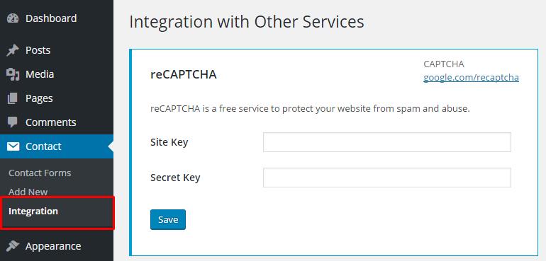 recaptcha integration