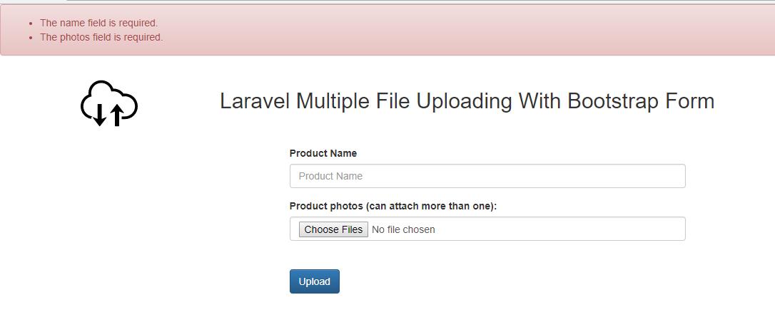 laravel file upload validation