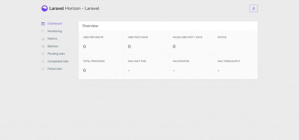 Laravel Horizon dashboard