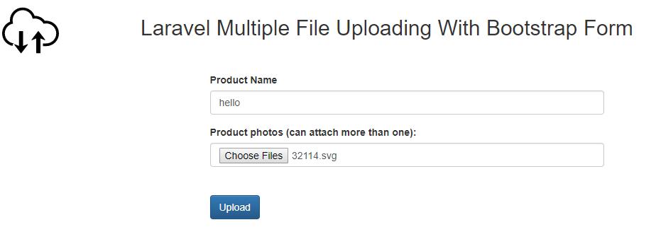 laravel multiple file upload form