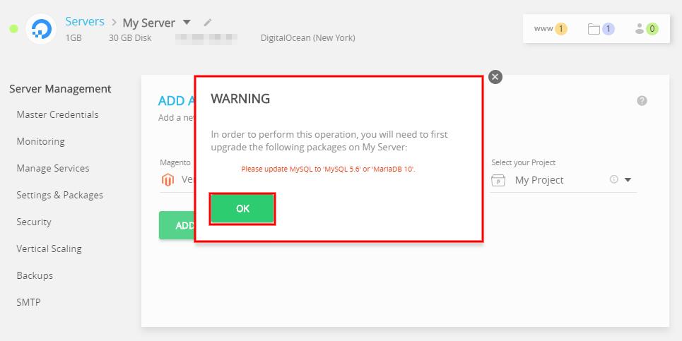 launch multiple websites one server magento error