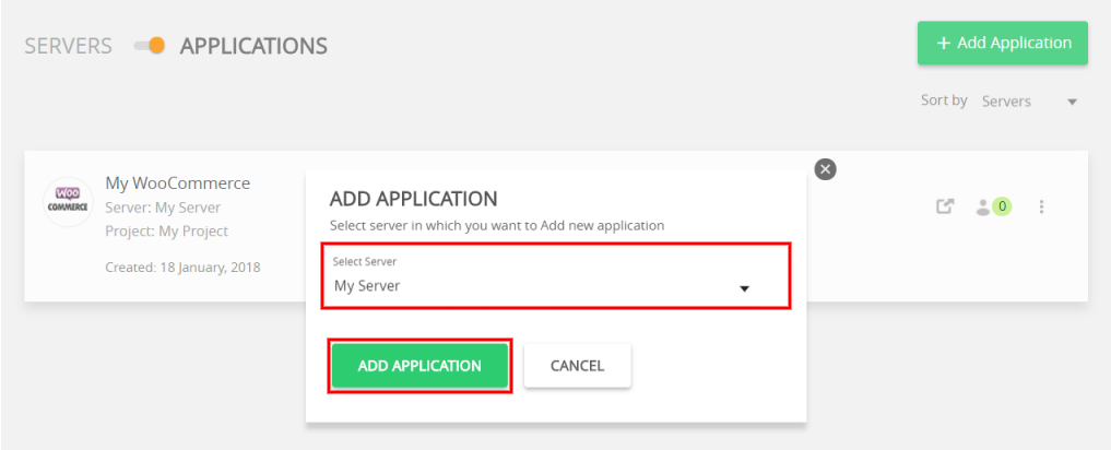 launch multiple websites one server select