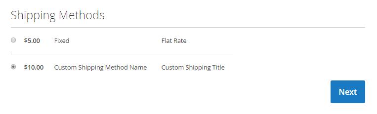 magento shipping method list