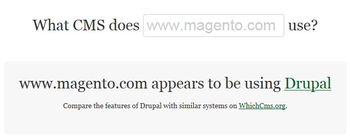 Magento uses drupal for website