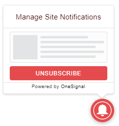 manage site notification