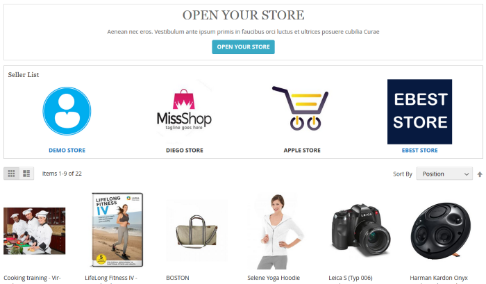 Marketplace Page