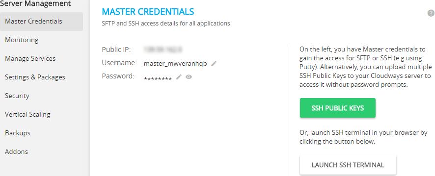 Master Credentials