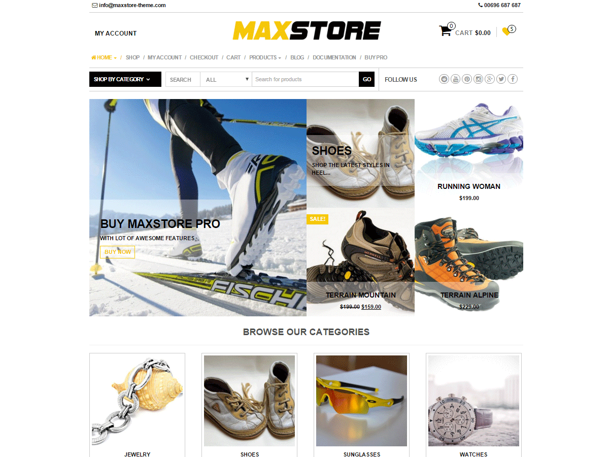 Maxstore Free WooCommerce Theme
