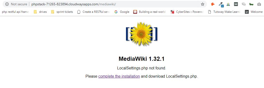 mediawiki setup
