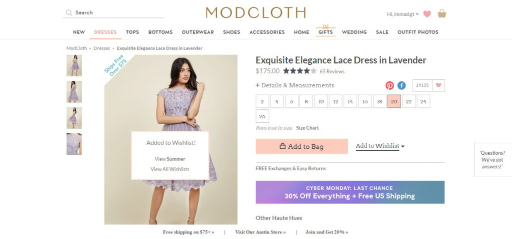 MODCLOTH Preview