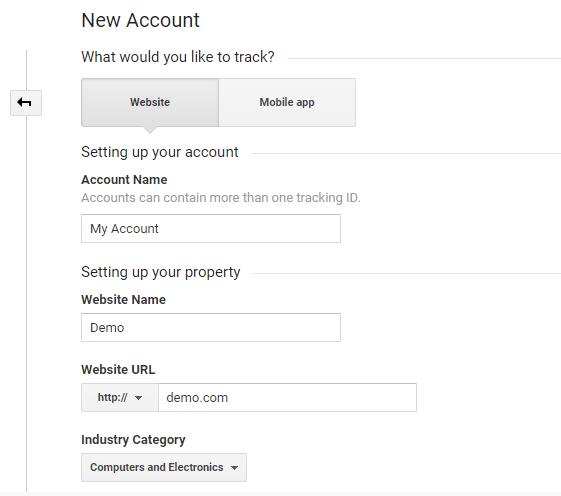 new account 1 - magento google analytics