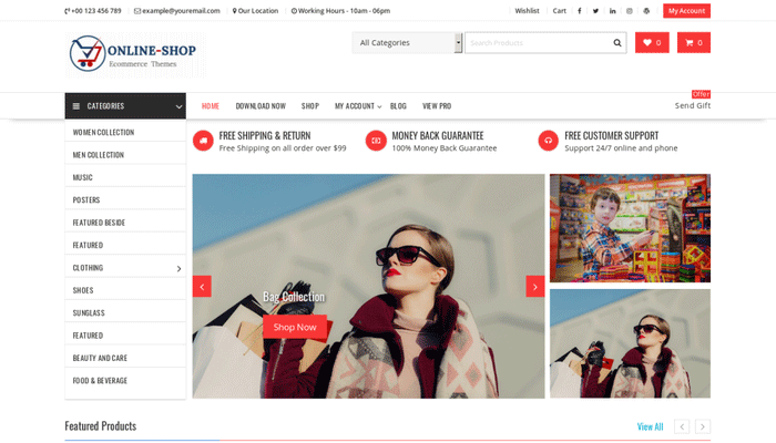Online Shop Free WooCommerce Theme