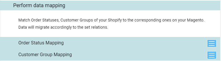 perform data mapping shopify magento migration