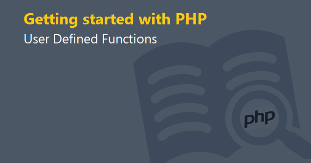 php user defined