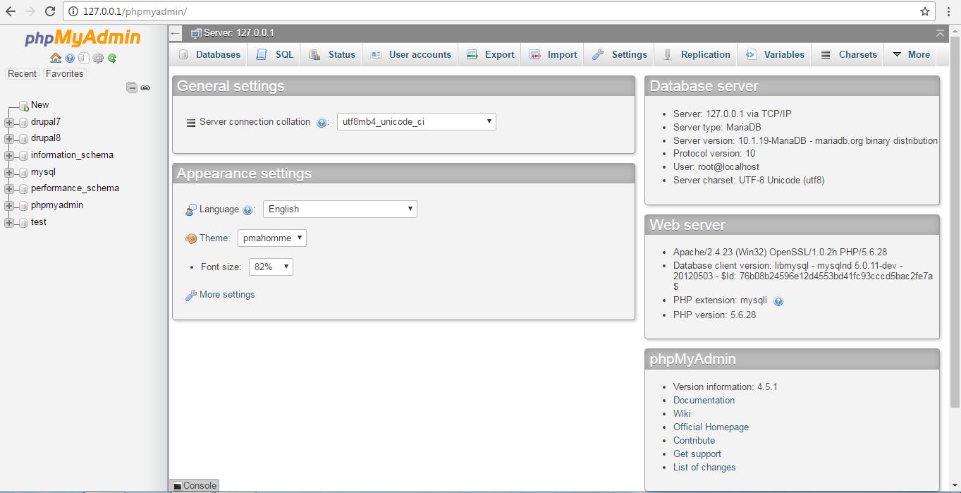 phpmyadmin database management