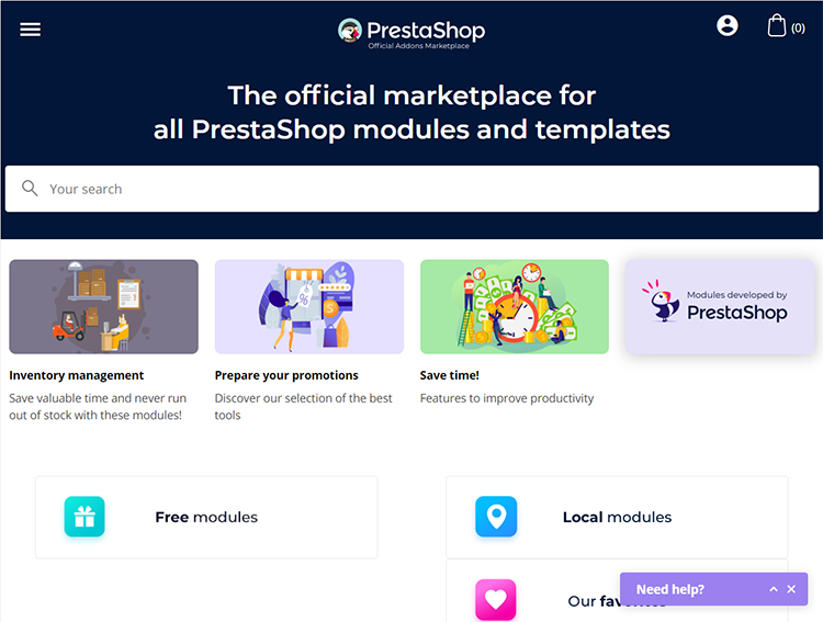 prestashop marketplace