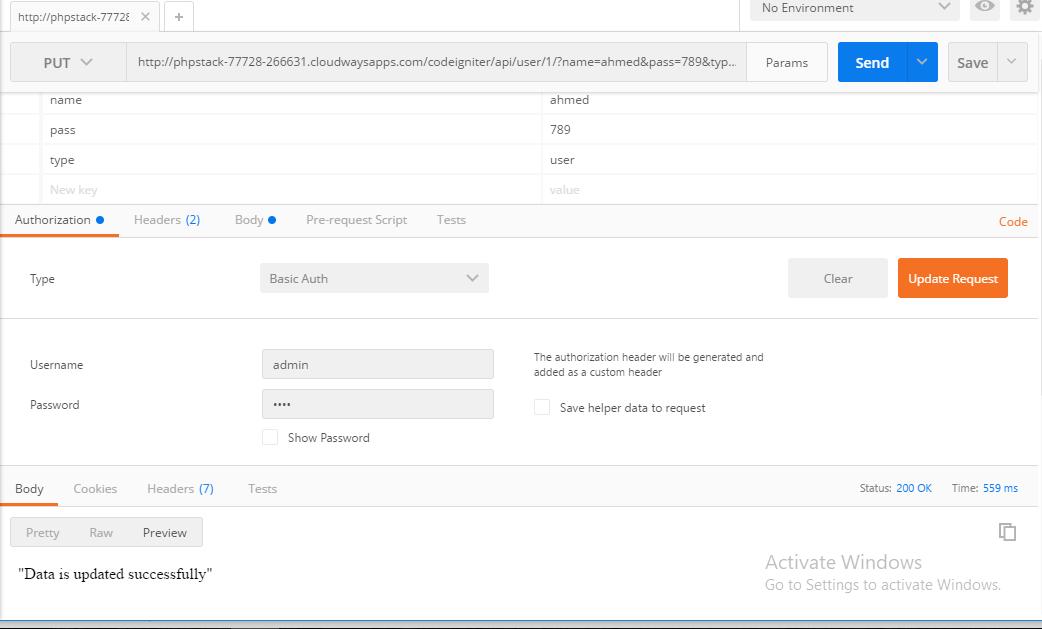 Create and Test REST API in CodeIgniter