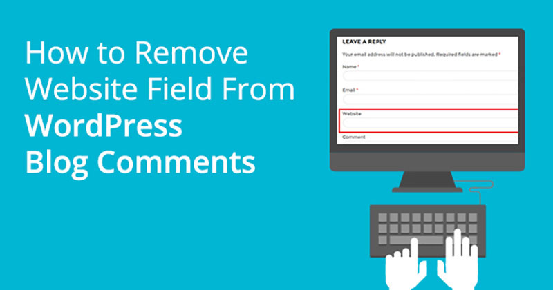 remove url field from wordpress