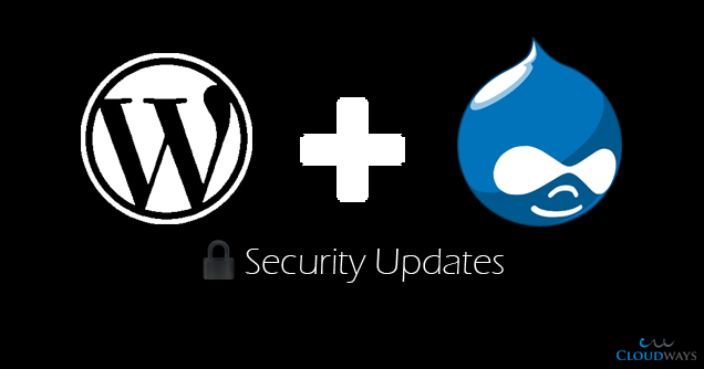 wordpress and drupal security updates