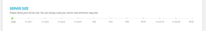 select server size