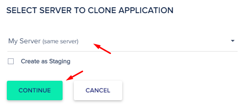 select server to clone website