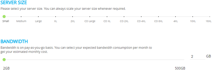 Server Size And Bandwidth
