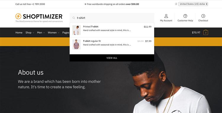 shoptimizer search results