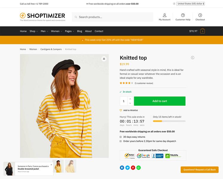 shoptimizer single product