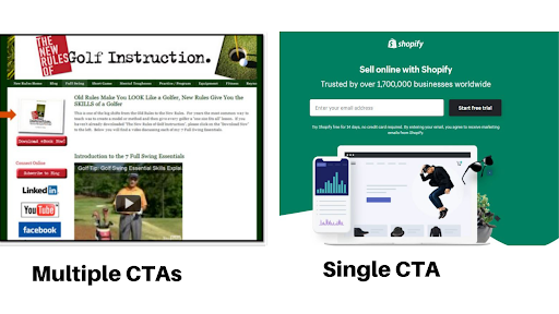 single and multiple CTAs