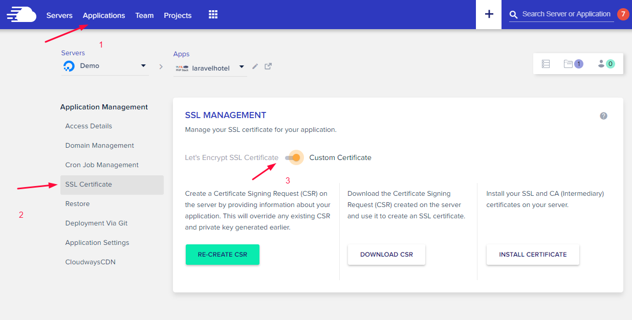 How to Setup HTTPS SSL certificates on Laravel 5